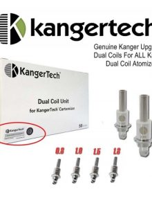 Kanger Tech Upgraded Dual Coils all ohms