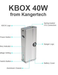 The Kanger KBox is Kanger's very first box mod. Boasting an impressive 40W of power, this is sure to become one of the best smaller sized box mods on the e-cig market.
