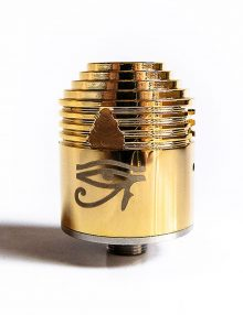 The Enigma RDA Clone in a chrome or brass finish